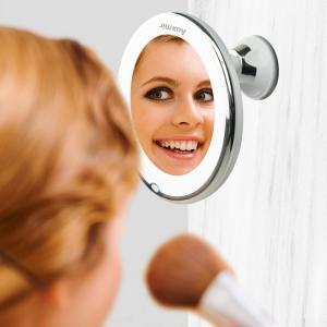miroir de maquillage avec lumière